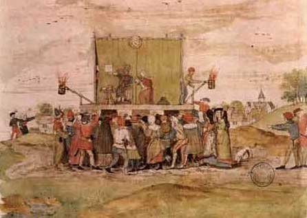 Medieval Booth Stage L De Caullery 1642