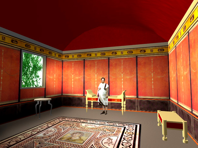 Kvl king 39 s visualisation lab for Ancient roman interior decoration