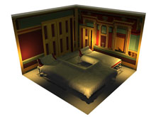 Villa of Oplontis, Room 23 interior visualisation